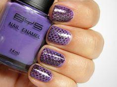 Purple Snake Manicure