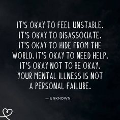 25 Quotes About Mental Health & Mental Illness To Help You Feel Less Alone In Your Struggle Mental Illness Quotes, Mental Illness Awareness, Mental Health Stigma, Mental Health Journal, Positive Mental Health, Mental Health And Wellbeing, Mental And Emotional Health, Mental Health Matters, Mental Health Quotes