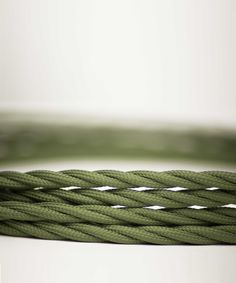 Vintage Fabric Electric Cable - Army Green  Twisted - William&Watson