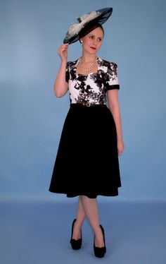 Black and White Dress - - Available to buy from Suzanne Porter (Boutique) White Dress, Boutique, Black And White, Floral, Stuff To Buy, Shopping, Clothes, Vintage, Dresses