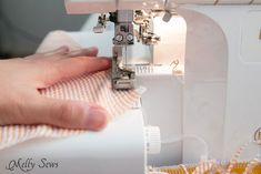 Sewing a rolled hem - napkins - Melly Sews