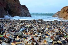 Fort Bragg sea glass beach - California