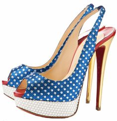 Christian Louboutin I love the patriotic colors of the shoes