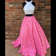 Sherri Hill *new* sz 6 pink &white polka dot dress Sherri Hill two piece pink & white polka dot dress new with tags. No PayPal, trade, or off posh sales. Sherri Hill Dresses