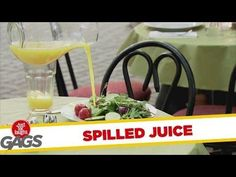 Lousy Waitresses Spill Juice Prank  - #funny #prank