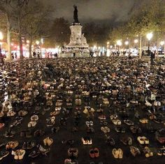 Just beautiful.  The People's Climate March in Paris was cancelled. So Parisians found another way to be heard.
