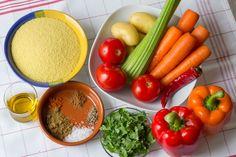 Zutaten für Gemüse Couscous