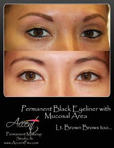 African American Permanent Makeup Eye Brows Accent Permanent