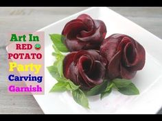 How To Make Red Beet Rose Radish and Cucumber Flowers Art In Fruit and Vegetable Carving Garnish - - Radish Flowers, Cucumber Flower, Carrot Flowers, Deco Fruit, Amazing Food Art, How To Make Red, Vegan Party Food, Feta Salat, Creative Food Art