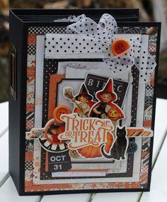 Vintage Halloween ~ Tutorial Only Halloween Mini Albums, Halloween Shadow Box, Halloween Scrapbook, Halloween Cards, Halloween Themes, Vintage Halloween, Halloween Celebration, Halloween Projects, Scrapbook Supplies
