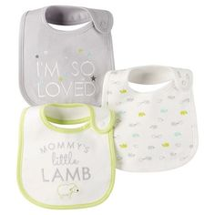 Just One You™ Made By Carter's® Newborn 3-Pack Bib Set - Gray : Target
