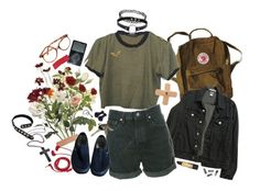 """""""Flower Girl"""" by superlivie003 ❤ liked on Polyvore featuring Alba Botanica, OKA, Crate and Barrel, American Apparel, Levi's, FOSSIL, Vans, Avon, Retrò and Revlon"""