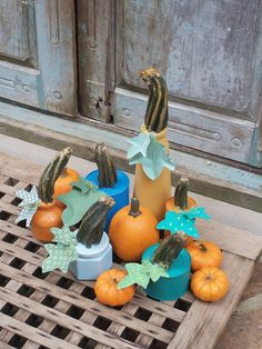 Chalk Paint Up-cycled Pumpkin DIY- Great for Fall Decor!