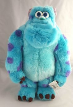 NEW-DISNEY-Store-15-Sulley-Monsters-Inc-Plush-Toy-With-Tags-Blue-Monster-Scary