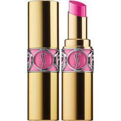 Yves Saint Laurent Rouge Volupté Shine Oil-In-Stick Lipstick ($37) ❤ liked on Polyvore featuring beauty products, makeup, lip makeup, lipstick, mineral lipstick, glossy lipstick, lip gloss makeup, moisturizing lipstick and shiny lipstick