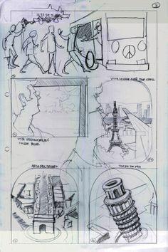 Pagina 6, boceto inicial story board