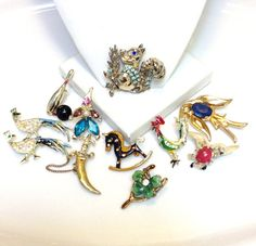 Vintage Destash Lot Animal Insect Pins CRAFT Lot by RaeOfLight, $10.00