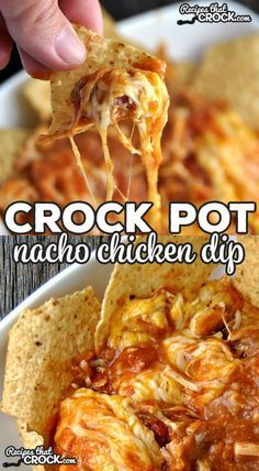 Crock Pot Nacho Chicken Dip – Recipes That Crock! Crock Pot Nacho Chicken Dip – Recipes That Crock!,Seasonal Food Inspirations It doesn't get much easier than this delicious Crock Pot Nacho Chicken Dip! Crock Pot Dips, Crockpot Dishes, Crock Pot Cooking, Crockpot Meals, Crock Pots, Superbowl Crockpot Recipes, Chicken Crock Pot Meals, Easy Crock Pot Meals, Crockpot Party Food