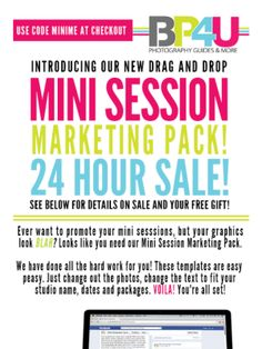 Check out this awesome photo mini session marketing pack sale!