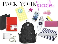 what to have in your college backpack