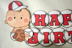 This would be perfect for a Baseball Themed Baby Shower! https://www.etsy.com/listing/162682767/first-birthday-boy-baseball-party-banner