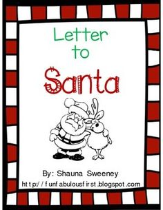 Included in the mini packet way to introduce 5 parts of a for Generic letter from santa