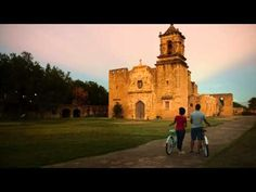 Travelers explore the San Antonio Missions National Park