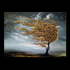 art painting abstract landscape texture metallic gold by mattsart, $399.00