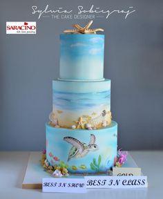 Ocean theme cake by Sylwia Sobiegraj The Cake Designer