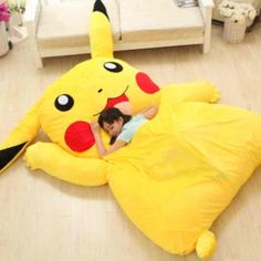 Cheap toy solid, Buy Quality toy suction directly from China toy doll bed Suppliers: Japan Anime Pokemon Pikachu Stuffed Large Cartoon Japanese Bed Mattress Pad Bedding Set Mat Memory Foam Cushion Summer T Pikachu Pikachu, Giant Pikachu, Pokemon Room, Pokemon Plush, Japanese Bed, Japanese Style, Geek Home Decor, Giant Stuffed Animals, Anime Toys