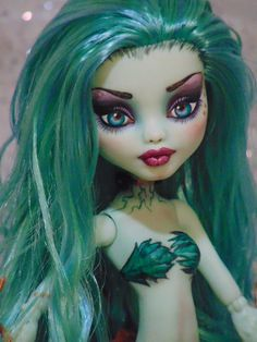 "Sophie OOAK Monster High ""Scarrier Reef"" Frankie Doll Repaint by Bordello 