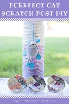 We have a perfect cat scratch post DIY on the blog that we made with @nutrishforpets  Rachel Ray cat food on the blog! #NutrishCatCrafts #ad