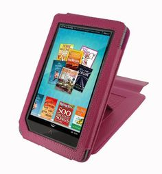 rooCASE (Magenta) Leather Case Cover for Barnes and Noble Nook Color eBook Reader