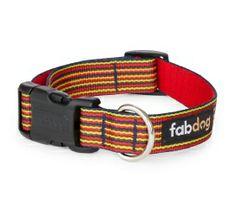 Eco Friendly Red Thin Stripe Dog Collar