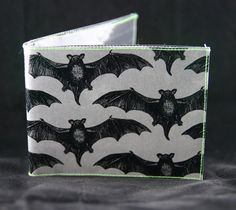Horror Bat Vinyl Wallet  Embossed Bat by oliviafrankenstein, $12.00