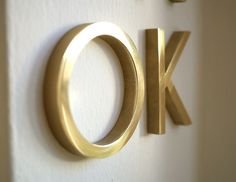 Decorative Brass Letters - by Matthaeus Krenn