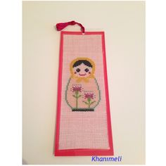 Bookmark Matrushka🌸crossstitch and completed for new order.