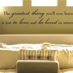 love this for above the bed