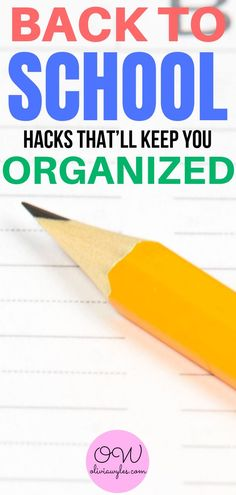 These back to school organization hacks are the BEST! I am so glad I found these super easy tips for back to school. Now I have some great back to school helpful hints to get me organized this year!