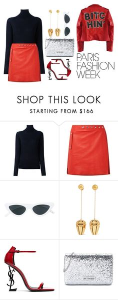 """""""Pack and Go"""" by sofhamaliani ❤ liked on Polyvore featuring STELLA McCARTNEY, Acne Studios, Le Specs, E L L E R Y, Yves Saint Laurent, Love Moschino, parisfashionweek and Packandgo"""