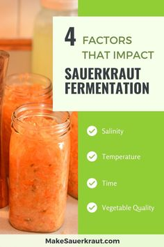 There are four factors that impact the taste, texture, and tang of your sauerkraut. Learn how to play with salinity, temperature, time and vegetable quality.