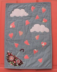 Valentine Hearts Mini-Quilt Tutorial