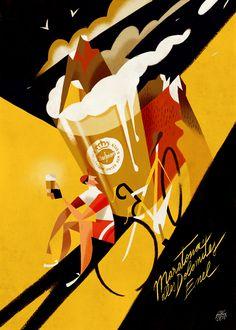 """Maratona dles Dolomites - Enel 2017. Riccardo """"Rik"""" Guasco (1975) - Warsteiner (2016). Illustratore e artista, Rik per i trent'anni della manifestazione, ha realizzato trenta tavole dedicate ai momenti più caratterizzanti della corsa: partenza, arrivo, passi, ciclisti, montagne, volontari, sponsor, alberi, nuvole, strade, folla, bici, entusiasmo, sole, fatica, ristori…"""