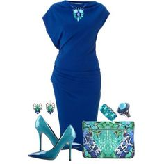 Outfit Set Ideas For Ladies. Classy Outfits, Chic Outfits, Blue Dress Outfits, Dress Shoes, Look Fashion, Womens Fashion, Fall Fashion, Fashion Ideas, Fashion Beauty