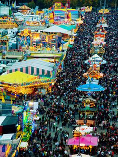 Oktoberfest in Germany attracts thousands of people from around the world. It offers food, rides, and of course... beer!