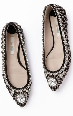 Sparkly crystal flats? Yes, please!