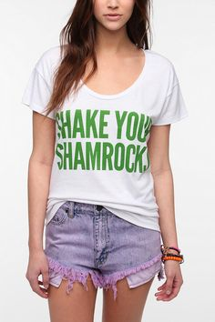 10736ade920 Shake Your Shamrocks Scoopneck Tee Online Only St Pattys Day Outfit