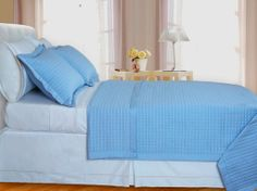With Love Home Decor - Lit-Blue Checkered Coverlet Set 3PC Egyptian cotton 400 Thread count Reversible, $92.99 (http://www.withlovehomedecor.com/products/lit-blue-checkered-coverlet-set-3pc-egyptian-cotton-400-thread-count-reversible.html)
