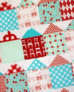 Love JennyB!  This quilt's featured as part of her red&aqua theme.