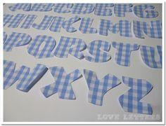 Bügelbilder - DIY Buchstaben zum Aufbügeln selbst applizieren  - ein Designerstück von Love_Letters bei DaWanda